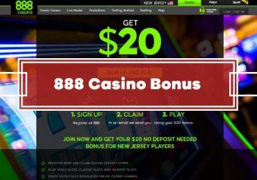 888 Casino No Deposit Bonus - GET $20 FREE