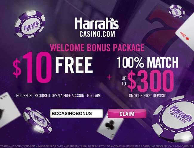 Harrahs Casino $10 no deposit