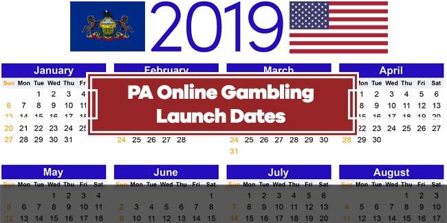 Pennsylvania Online Casino Sports Betting Launch Dates