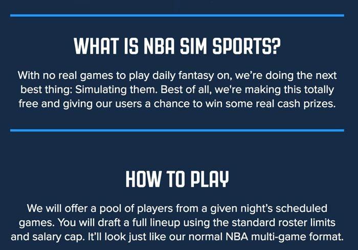 What is nba sim sports?