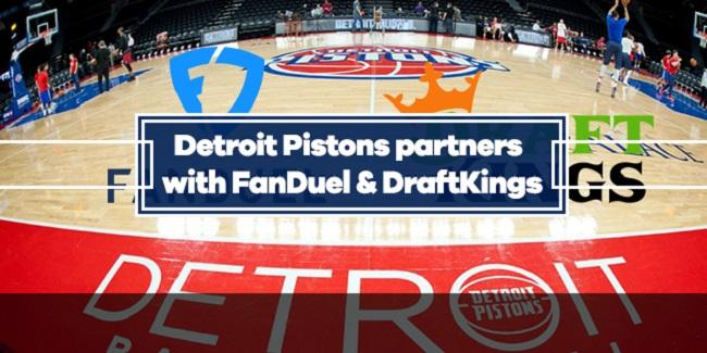 Detroit Pistons Sports Betting Partnership with FanDuel and DraftKings