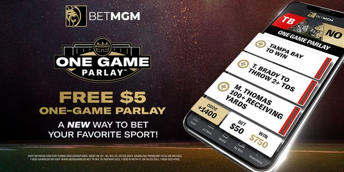 betmgm one game parlay builder