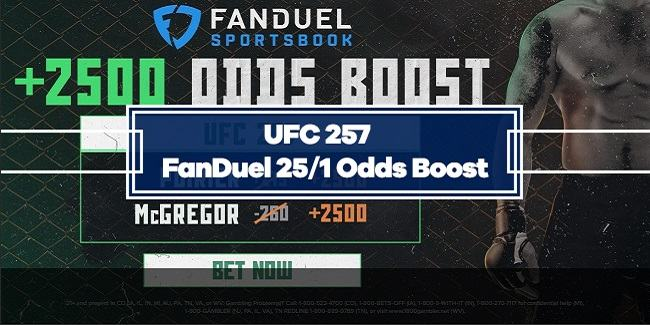 UFC 257 – FanDuel 25/1 Odds Boost on Conor McGregor or Dustin Poirier