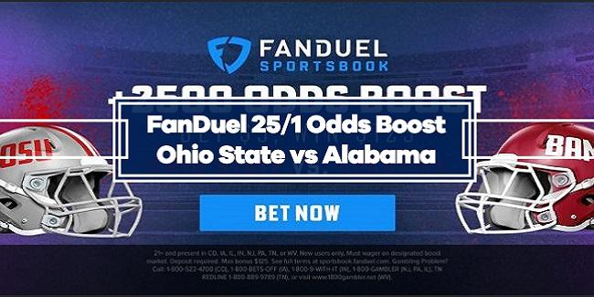 Ohio State or Alabama – 25/1 Odds Boost with FanDuel (1/11/21)