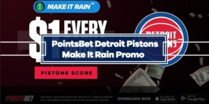 PointsBet Make It Rain – Win $1 for every point Detroit Pistons score against 76ers