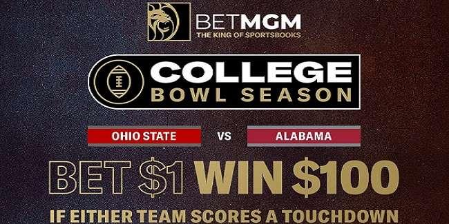 betmgm College Football Championship free bet