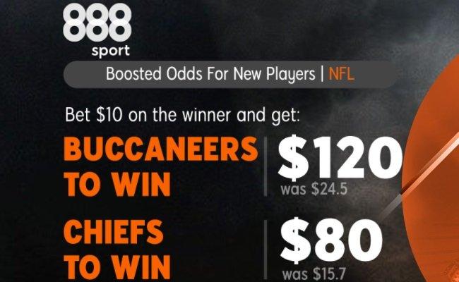 888Sport Special Odds boost Chiefs vs Bucs