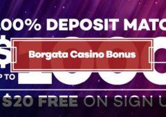 Borgata Casino Bonus $20 Free On SIgn Up