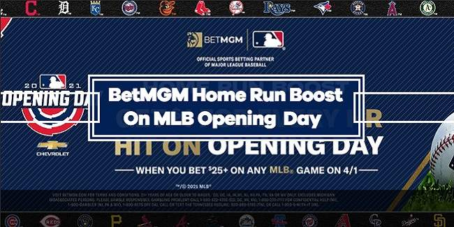 BetMGM HR Boost on MLB Opening Day - Get $1 for Every Home Run