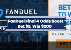 FanDuel NCAA Tournament Final 4 Odds Boost – 40/1 on any Team to win