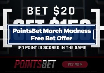 PointsBet March Madness Offer – Bet $20, Get $150 in Free Bets