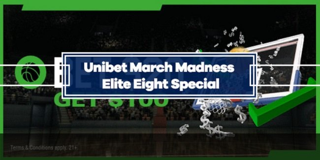 Unibet March Madness Elite Eight Special - Bet $20, Get $100