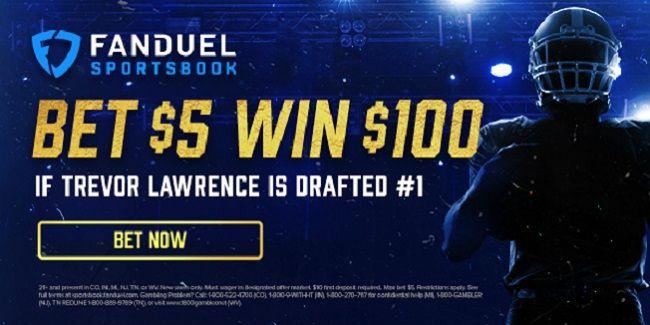 Trevor lawrence fanduel 20/1 odds nfl draft