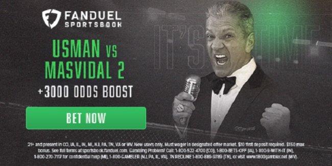 fanduel +3000 odds on Usman vs Masvidal