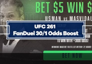 FanDuel Special Boost - 30/1 Odds on Usman or Masvidal to win UFC 261