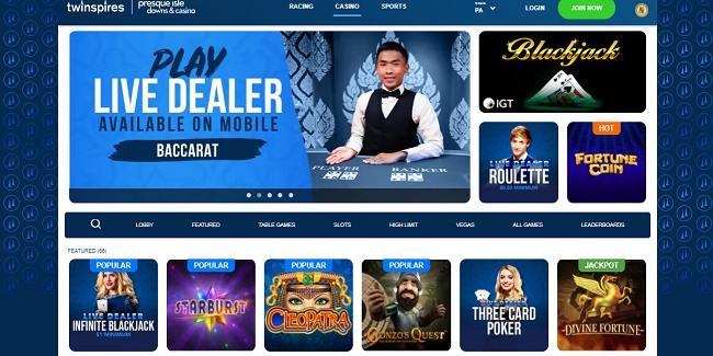 TwinSpires online casino games