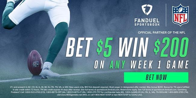 FanDuel NFL Week 1 40-1 Odds Boost