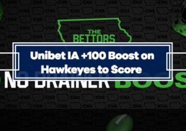 Unibet +100 Booster on Iowa Hawkeyes to score vs Indiana Hoosiers