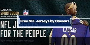 Caesars Sportsbook is giving away authentic NFL Jersey for free