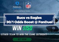 Bucs vs Eagles – 30/1 Odds Boost with FanDuel (NFL Week 6)